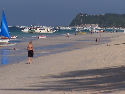View of Diniwid Hills in Boracay Island